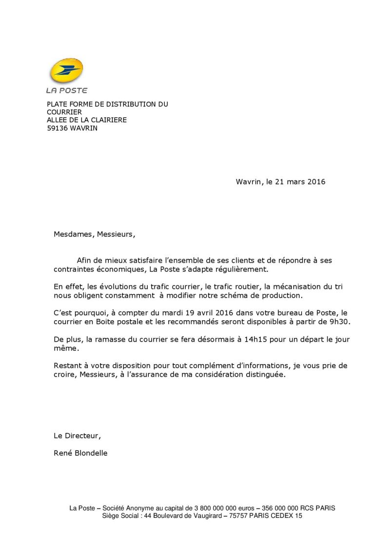 Non class archives ville de sainghin en weppes for La poste demenagement suivi de courrier