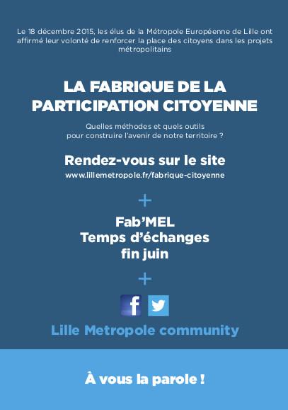 Fabrique de la participation citoyenne flyer verso